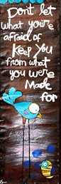 You Were Made For 6x18 Reclaimed Metal Wall Art