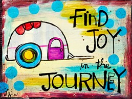 Joy in the Journey 8x6 Reclaimed Metal Wall Art