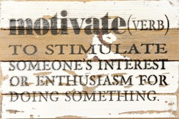 Motivate... 12x8 Reclaimed Wood Wall Art