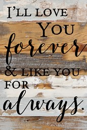 Love You Forever… 12x18 Reclaimed Wood Wall Art