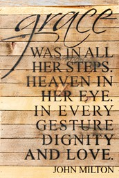 In Every Gesture... 12x18 Reclaimed Wood Wall Art
