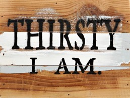 Thirsty I Am 8x6 Reclaimed Wood Wall Art