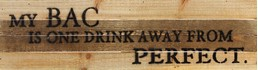 Drink From Perfect 24x6 Reclaimed Wood Wall Art