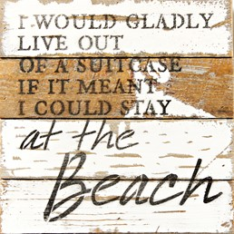 Stay At The Beach 8x8 Reclaimed Wood Wall Art