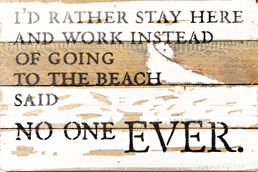 Going To The Beach 12x8 Reclaimed Wood Wall Art