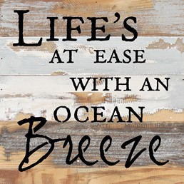 With An Ocean Breeze 12x12 Reclaimed Wood Wall Art
