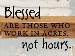 Blessed Are Those... 8x6 Reclaimed Wood Wall Art
