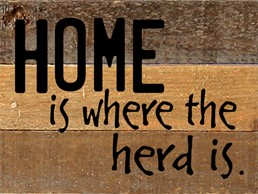Home Is Where... 8x6 Reclaimed Wood Wall Art