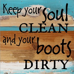 Keep Your Soul Clean 8x8 Reclaimed Wood Wall Art