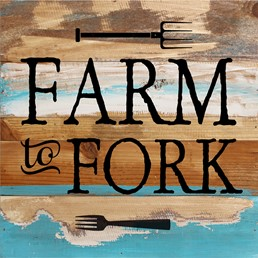 Farm To Fork 12x12 Reclaimed Wood Wall Art