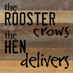 The Rooster Crows 12x12 Reclaimed Wood Wall Art