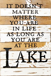 Where You Are... 12x18 Reclaimed Wood Wall Art