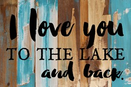 To The Lake and Back 18x12 Reclaimed Wood Wall Art