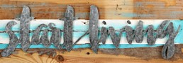 Start Living 24x8 Reclaimed Wood Frame Wall Art