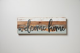 Welcome Home 24x8 Reclaimed Wood Frame Wall Art