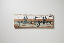 Gather Together 24x8 Reclaimed Wood Frame Wall Art