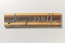 Be Yourself 32x8 Reclaimed Wood Wall Art