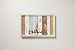 Gather Random Ombre 18x12 Reclaimed Wood Tray