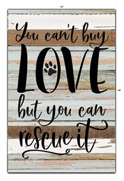 You Can't Buy Love 12x18 Reclaimed Wood Wall Art