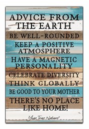 Advice From Earth 12x18 Reclaimed Wood Wall Art