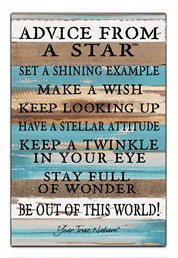 Advice From A Star 12x18 Reclaimed Wood Wall Art