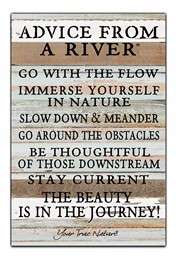 Advice From A River 12x18 Reclaimed Wood Wall Art