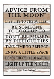 Advice From The Moon 12x18 Reclaimed Wood Wall Art