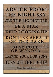 Advice From Dark Sky 12x18 Reclaimed Wood Wall Art
