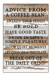 From A Coffee Bean 12x18 Reclaimed Wood Wall Art