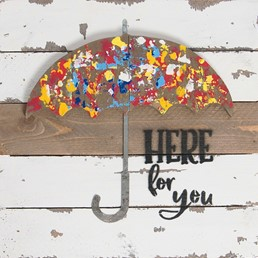 10x10 UMBRELLA HERE FOR YOU RECLAIMED WOOD SIGN