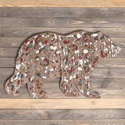 18x18 BEAR  RECLAIMED WOOD SIGN