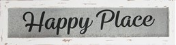 24x6 HAPPY PLACE METAL/WOOD SIGN