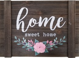 HOME SWEE HOME WALL SIGN WITH FELT DETAIL
