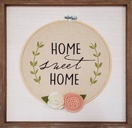 HOME SWEET HOME EMBROIDERY CIRCLE SIGN
