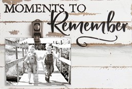 12X8 MOMENTS TO REMEMBER RECLAIMED WOOD CLIP FRAME