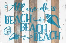 18X12 ALL WE DO IS BEACH RECLAIMED WOOD SIGN