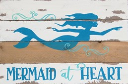 12X8 MERMAID AT HEART RECLAIMED WOOD SIGN