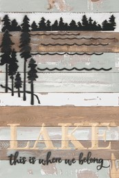 12X18 LAKE THIS IS WHERE I BELONG RECLAIMED WOOD SIGN WITH CARVED DETAIL
