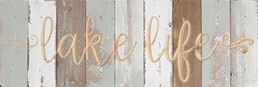 18X6 LAKE LIFE RECLAIMED WOOD SIGN WITH CARVED DETAIL