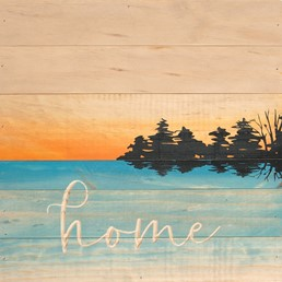 12X12 SUNSET SIGN-HOME