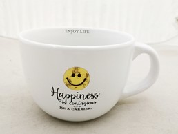 HAPPINESS IS CONTAGIOUS 24 OZ MUG
