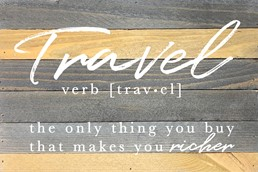 Definition of Travel 12x8 Reclaimed Wood Wall Art