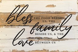 Bless, Family, Love 12x8 Reclaimed Wood Wall Art