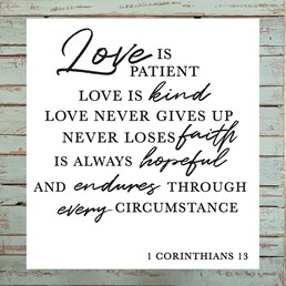 Corinthians 13 30x30 Reclaimed Wood Wall Art