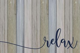 Relax 12x8 Indoor/Outdoor Recycled Polystyrene Wall Art