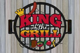 King of the Grill 12x18 Indoor/Outdoor Recycled Polystyrene Wall Art