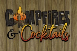 Campfires and Cocktails 12x8 Indoor/Outdoor Recycled Polystyrene Wall Art