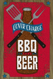 BBQ and Beer 12x8 Indoor/Outdoor Recycled Polystyrene Wall Art