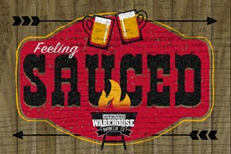 Feeling Sauced 12x8 Indoor/Outdoor Recycled Polystyrene Wall Art
