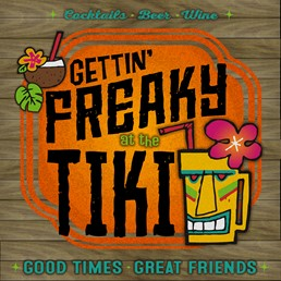 Getting Freaky at the Tiki 22x22 Indoor/Outdoor Recycled Polystyrene Wall Art